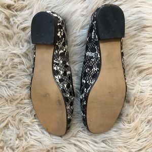 Reiss Shoes - Reiss Spotted Snake Print Leather Flats